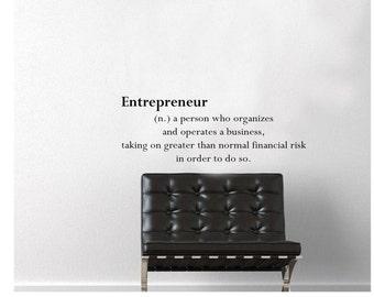Entrepreneur Wall Decal