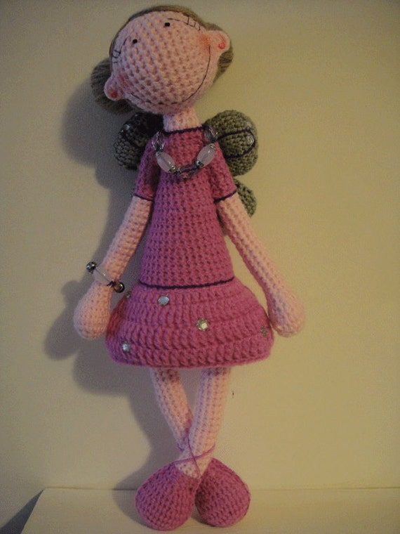 Crochet big doll (fairy) - pattern PDF document (about 35 cm - 40 cm )