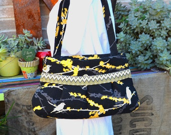 Shoulder Bag with Joel Dewberry's Aviary Fabric Collection