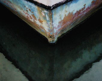 Boat Keel with Reflection, Abstract Seascape