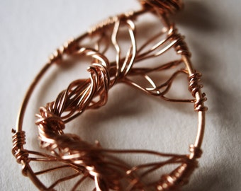 SALE!!! Copper Wire Wrapped Tree of Life Pendant