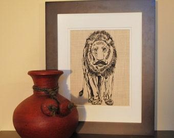 Wall Hanging - African Wall Art Print - Art Print Kitchen - Animal Art Print - Lion Decor - Whimsical Animal Art - Kitchen Art Print