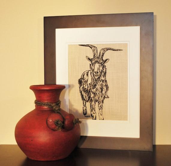Unique Kitchen Decor: Art For Kitchen Goat Kitchen Wall Art Farm By HeapsHandworks