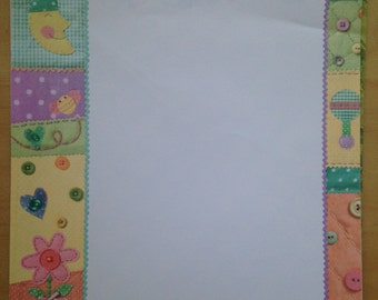 8.5x11 Baby Patchwork Pattern Paper