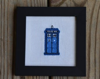 Framed TARDIS Cross Stitch
