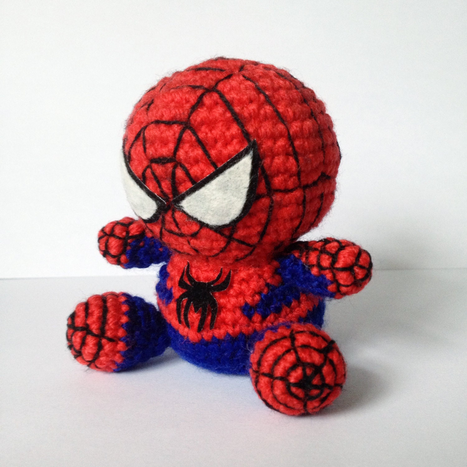 Free Amigurumi Superhero Patterns : SPIDERMAN Amigurumi Pattern SuperHero Spider Marvel Easy DIY