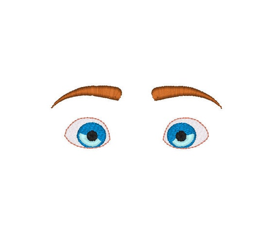 Machine embroidery design eyes for dolls or plushies