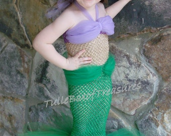 Adorable Mermaid Tutu Costume (Green)