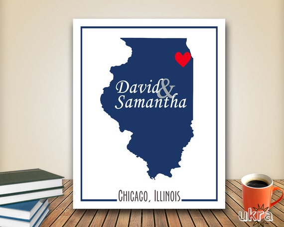 State Printable,Personalized Map Art, Custom Map Print,State