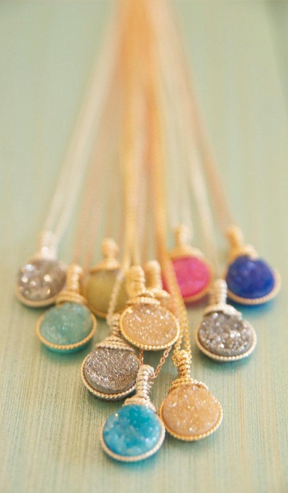 Beautiful druzy necklaces