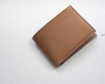Handmade Barenia half wallet clutch Purse
