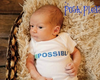 Newborn Boy Outfit ImPossible Miracle Newborn Take Home Outfit Keepsake Outfit ImPossible Outfit Baby Shower Gift Impossible Miracle Outfit