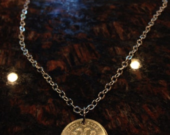 Russia 5 roubles coin necklace