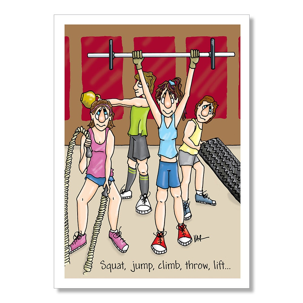 Exercise e cards quotes cross training birthday card fitness birthday card exercise m4hsunfo