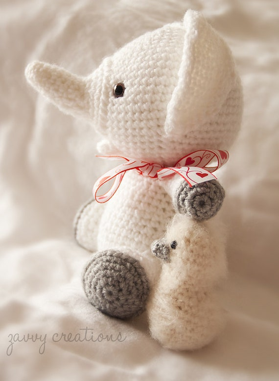 Sweet Little Amigurumi Elephant Made to Order by ...