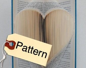 Bookfolding Pattern Heart, English