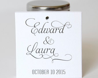 Personalized Wedding Tags, Wedding Favor Tags, Custom Favor Tags  (SQ-54)