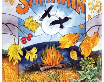 Samhain Card, Celtic Wheel of the Year