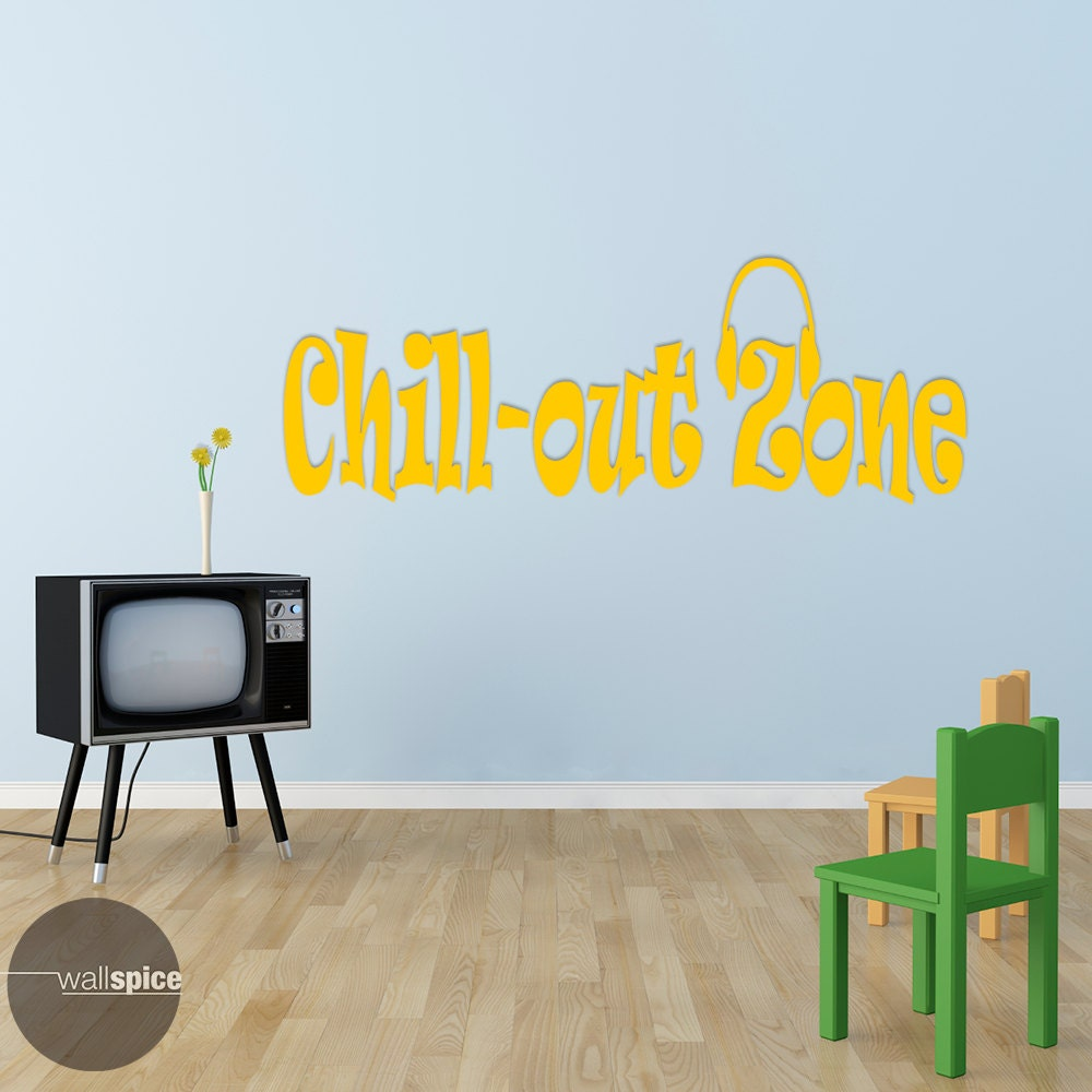 chill out zone chill out vinyl wall decal sticker. Black Bedroom Furniture Sets. Home Design Ideas