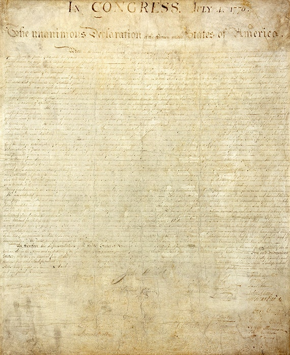 a report on the declaration of independence a document in the united states of america The declaration of independence is the founding document of american history it has been included among one of the most important documents ever to be written in the history of the united.