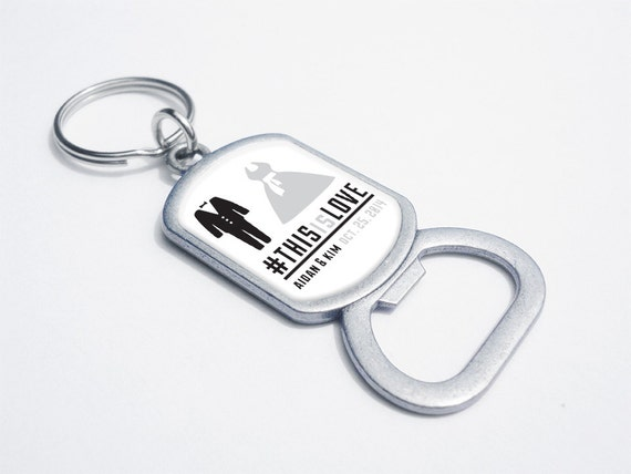 items similar to 50pcs custom bottle opener keychains thisislove personalized wedding. Black Bedroom Furniture Sets. Home Design Ideas