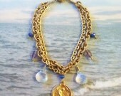 Bracelet - Sea of Galilee - Opalite, Amythest, Czech Glass, 18K Gold Vermeil