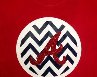 Heat Set Chevron Atlanta Braves shirt