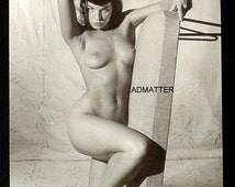 BETTIE PAGE Topless Nude Vintage Professionally Mounted Pin-up Fire Hot Photo Erotic Pinup Art Print!
