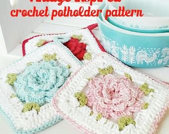 popular items for flower potholder on etsy. Black Bedroom Furniture Sets. Home Design Ideas