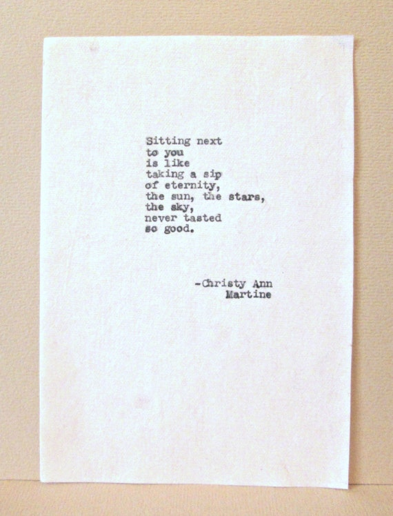 Paper gifts for men women love poem on cotton by