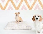 DayDream Eco Lounger Pet Bed // CHEVRON ORANGE