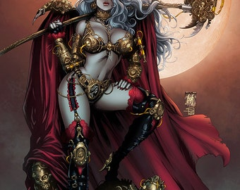 Steampunk Lady Death