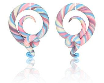 Fake Gauge Earrings or Candy Fake Gauges / Pastel Candy Ear Plugs 6g 5g 4g 3g 2g 1g 0g 00g 000g 7/16