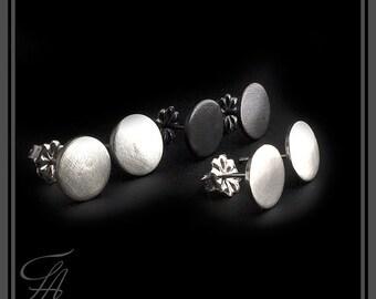 Minimalist Earrings, Modern Jewelry, Round Studs, Stud Earrings, Post Earrings, Sterling silver, Silver stud Earrings, Handmade Earrings 8mm