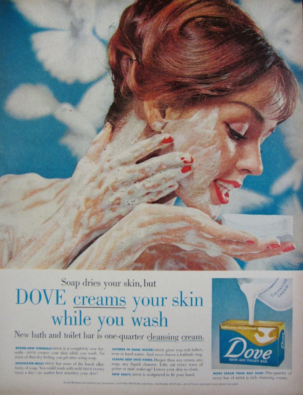 War In Your Bedroom 1958 Dove Soap Vintage Advertisement Bathroom Wall Art Decor