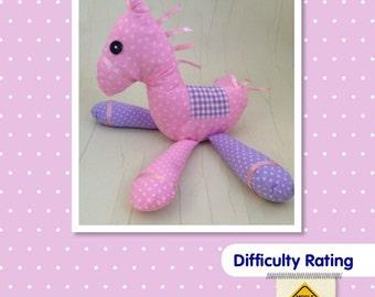 Horse Soft Toy Sewing Pattern.    Stuffed Animal pony