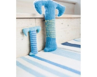 Knitted Letter T Knitting Pattern