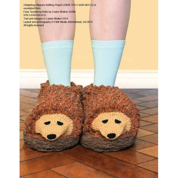 Hedgehog Slippers Knitting Pattern Download 803718