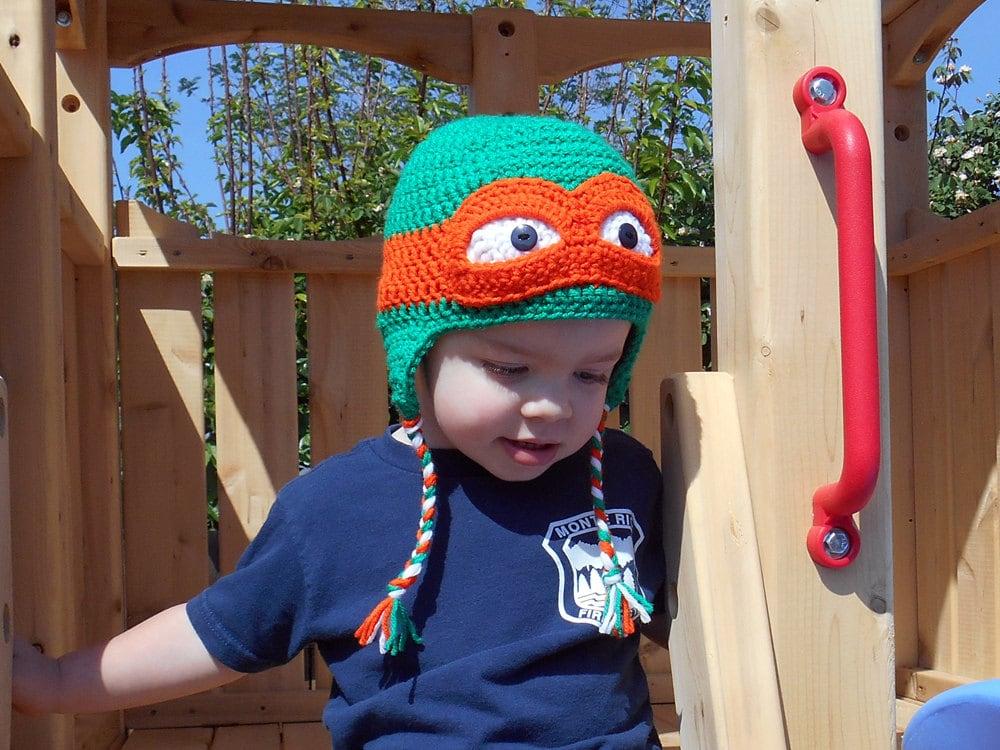 Ninja Turtle Crochet Blanket Pattern Ninja Turtle Hat Crochet