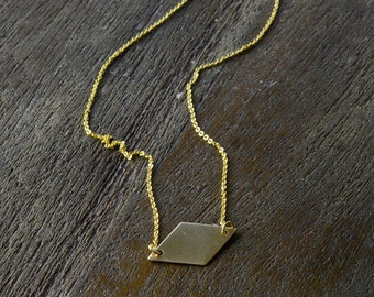 Diamond Necklace, Delicate Necklace, Simple Necklace