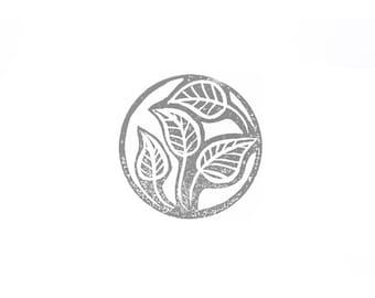 Zebra Plant Leaves Rubber Stamp   018101