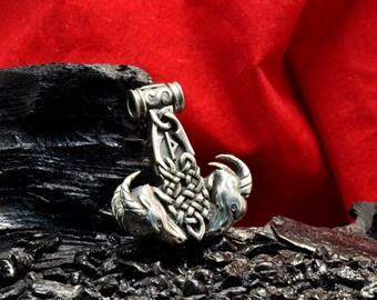 Silver 1.7oz 48gr THORS HAMMER Pendant THOR Necklace Viking Mjolnir Norse