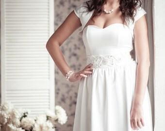 BLACK FRIDAY A-line short wedding dress M20, Romantic wedding gown, Classic bridal dress, Custom dress, Rustic gown