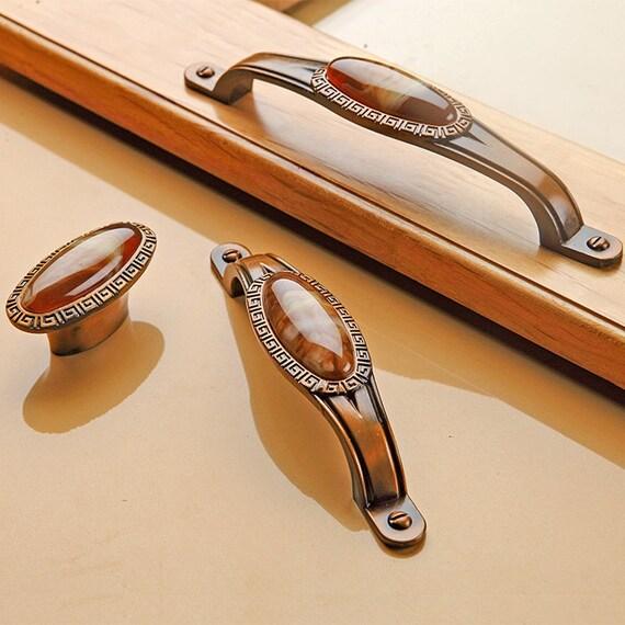 Cabinet Door Handles Pulls Knobs Amber Bronze Dresser Pulls Drawer