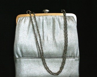 Vintage Harry Levine Silver Evening Purse