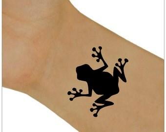 Temporary Tattoo 2 Frog Wrist Tattoos Body Art