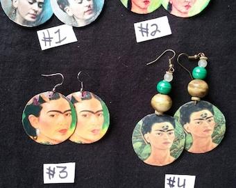 Frida Kahlo Bead Earrings