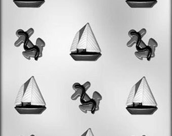 Sailboats and Anchors Chocolate Candy Mold Boating Boat Soap