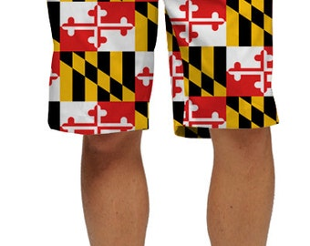 Maryland Flag Inspired Men's Golf Shorts