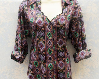 Medium – Vintage Southwestern Shirt